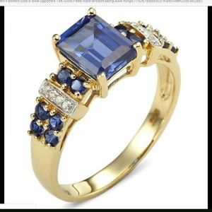 Jewelry - Blue Sapphire 18K Gold Filled ring